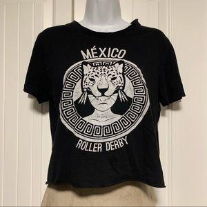 Cool Vintage Mexico Roller Derby Black T-shirt